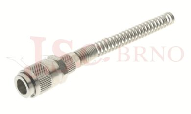 113 - rychlospojka zásuvka s vývodem na trubičku a pružinou - DN 5,0mm