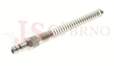 213 - rychlospojka zástrčka s vývodem na trubičku a pružinou - DN 5,0mm