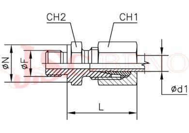 GES 16SM18x1,5 (M24x1,5 - M18x1,5)