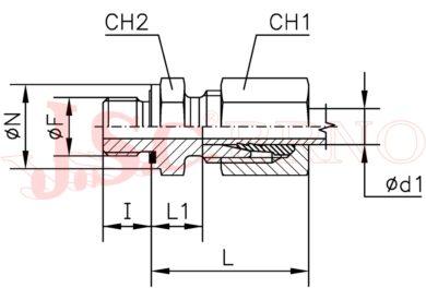 GES 15LM-WD (M22x1,5 - M18x1,5)