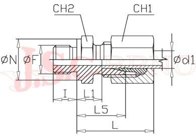 """GES 18LR (M26x1,5 - G1/2"""")"""