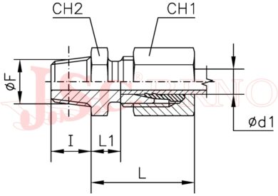 """GES 06LR1/4K (M12x1,5 - R1/4""""kuž.) RAS"""