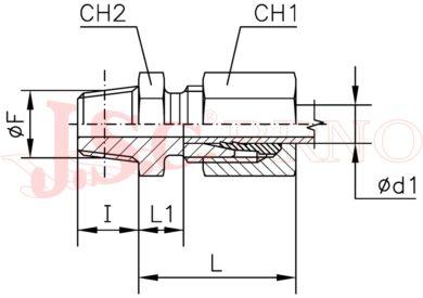 """GES 06LR1/4K (M12x1,5 - R1/4""""kuž.)"""