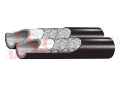 Hadicovina DUO 1202LT - plastová zdvojená s výpletem ze syntetického vlákna