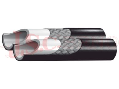 Hadicovina DUO 2040 - plastová zdvojená s kovovým opletem