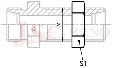 Matice M22x1,5 panelová (15L/14S)