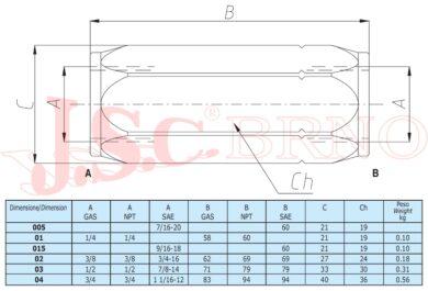 "VUR02C zpětný ventil 40l/min, 400bar (G3/8"")"