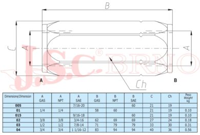 "VUR05C zpětný ventil 140l/min, 270bar (G1"")"