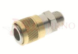 111SW - rychlospojka zásuvka bez uzávěru s vnějším závitem - DN 5,0mm