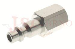 228 - rychlospojka zástrčka s vnitřním závitem - pozvolný odfuk - DN 5,5mm
