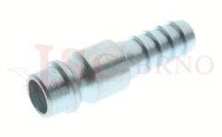 265AC - rychlospojka zástrčka ocelová s vývodem pro hadice - DN 7,5mm