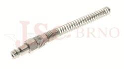 283 - rychlospojka zástrčka s vývodem na trubičku a pružinou - DN 5,0mm