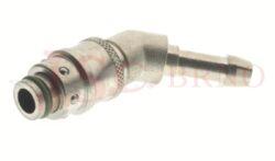 416 - rychlospojka zásuvka s vývodem 45° pro hadice - DN 8,0mm