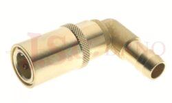 446SW - rychlospojka zásuvka bez uzávěru s vývodem 90° pro hadice - DN 9,0mm