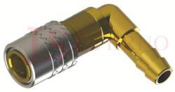 466 - rychlospojka zásuvka s vývodem 90° pro hadice - DN 6,0mm