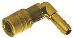 476SW - rychlospojka zásuvka bez uzávěru s vývodem 90° pro hadice - DN 9,0mm