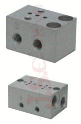 07V 2B 0...x zadní deska ventilů - 15mm