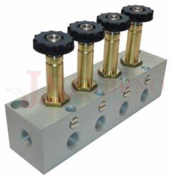 07V B0 0..... - elektromagnetické ventily 3/2 jednocívkové -s nouzovým ovládáním