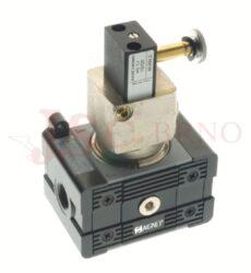 T060 - ventil měkkého startu s odvětráním 3/2 NC vtupní tlak 4-12bar (APE 1-3)
