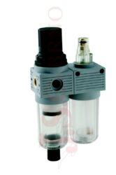 T100 MINI - regulátor tlaku s filtrem a přimazávačem (velikost FR+L 0)