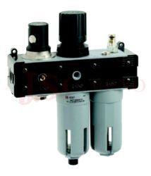 T110 - ventil odpoj.tlaku, regulátor, odkalovač a přimazávač (vel. V+FR+L 1-3)