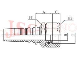 D-DKJ bezořezová koncovka s převlečnou maticí a UNF-JIC závitem, kužel 37°