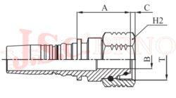 I-DKOS koncovka INTERLOCK s převlečnou maticí, kužel 24°, těžká řada