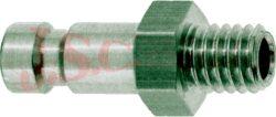 ESMC.....NA - rychlospojka zástrčka s vnějším závitem - DN 2,7mm