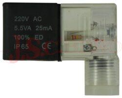 EVI 7/9..... cívka typ B/22mm (9*29.5) vč. konektoru, pro řadu 200+