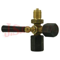 Kohout tlakoměrný 3-cestný, G1/2, PN25Bar, -20°C/+50°C, mosaz, DIN16263
