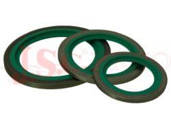 N-USIT nerezový těsnící kroužek s břitem, FKM těsnění (-10°C až +200°C)
