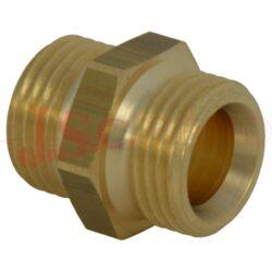 DN G... - G... adaptér s vnějšími závity mosaz (vnitřní kónus 45°)