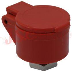 SPPV.13343 držák kuličkové zástrčky vel.3, červený, zaklapávací