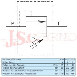 "VMD35 03 C1 pojistný ventil 35l/min, 100-350bar (G1/2"")"