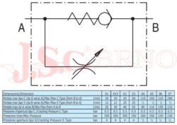 """VRF04C škrtící ventil jednosměrný 300bar, (G3/4"""")"""