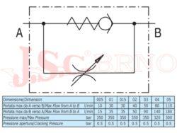 """VRFU9004 škrtící ventil jednosměrný, 280bar, (G3/4"""")"""